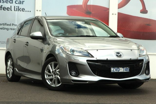 Pre-Owned Mazda 3 BL1072 MY13 SP20 SKYACTIV-Drive SKYACTIV Ferntree Gully, 2012 Mazda 3 BL1072 MY13 SP20 SKYACTIV-Drive SKYACTIV Aluminium Grey 6 Speed Sports Automatic