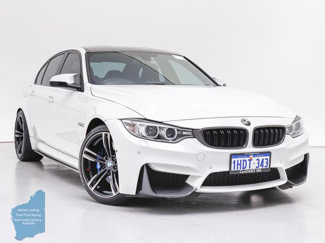 Used BMW M3 F80 MY15 , 2015 BMW M3 F80 MY15 White 7 Speed Auto Dual Clutch Sedan