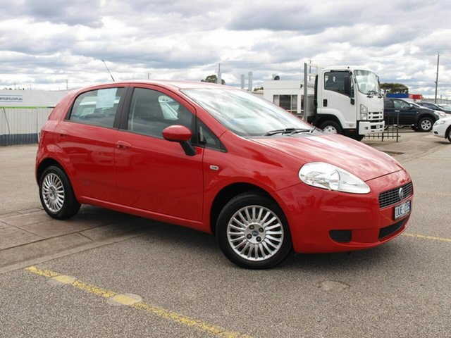 Used Fiat Punto Dynamic DuaLogic Cheltenham, 2007 Fiat Punto Dynamic DuaLogic Red 5 Speed Seq Manual Auto-Clutch Hatchback