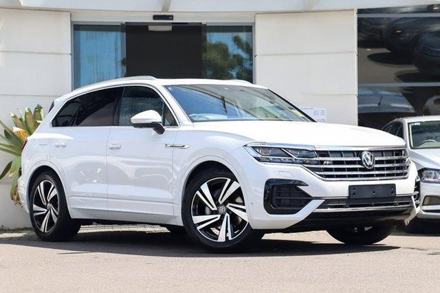 Demo Volkswagen Touareg MY20 190TDI Premium Sutherland, 2020 Volkswagen Touareg MY20 190TDI Premium Pure White 8 Speed Automatic Wagon