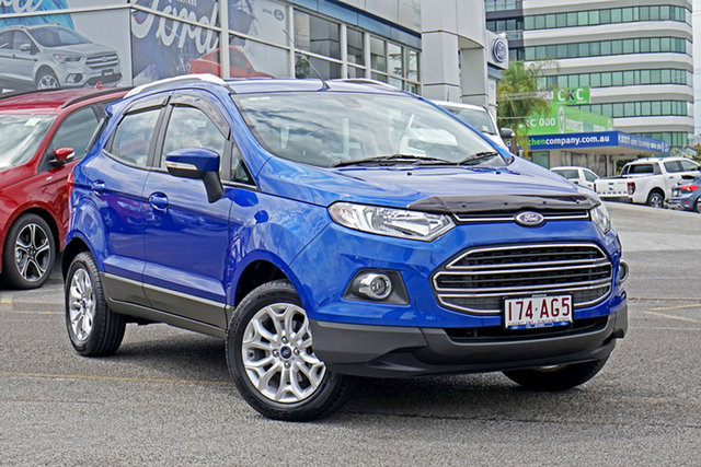 Used Ford Ecosport BK Titanium Springwood, 2014 Ford Ecosport BK Titanium Blue 5 Speed Manual Wagon