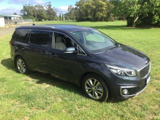 2015 Kia Carnival YP MY15 Platinum Blue 6 Speed Sports Automatic Wagon.