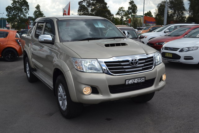 Used Toyota Hilux KUN26R MY12 SR5 Double Cab Maitland, 2012 Toyota Hilux KUN26R MY12 SR5 Double Cab Gold 4 Speed Automatic Utility
