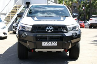 2018 Toyota Hilux GUN126R 4x4 Glacier White 6 Speed Automatic Dual Cab