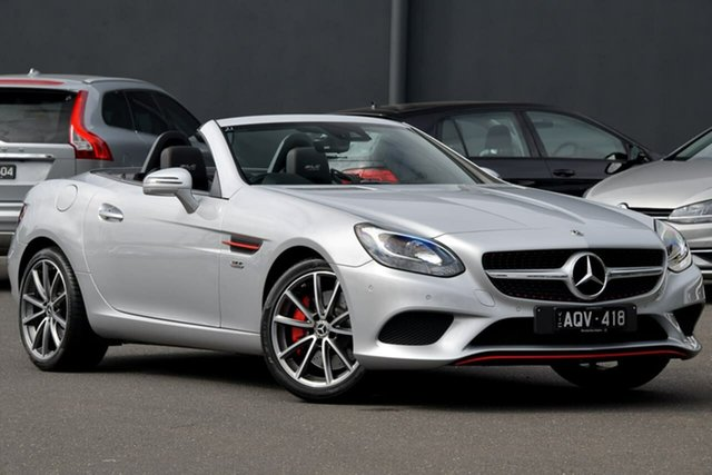 Used Mercedes-Benz SLC-Class R172 807MY SLC180 9G-Tronic Moorabbin, 2017 Mercedes-Benz SLC-Class R172 807MY SLC180 9G-Tronic Silver 9 Speed Sports Automatic Roadster