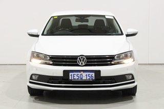2015 Volkswagen Jetta 1KM MY14 118 TSI Highline White 7 Speed Auto Direct Shift Sedan.