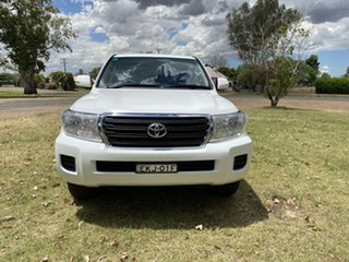 2014 Toyota Landcruiser VDJ200R MY13 GXL White 6 Speed Sports Automatic Wagon.