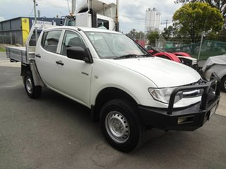 2010 Mitsubishi Triton MN MY10 GLX White 5 Speed Manual Double Cab Utility