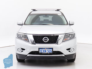 2015 Nissan Pathfinder R52 MY15 ST (4x2) Silver Continuous Variable Wagon.