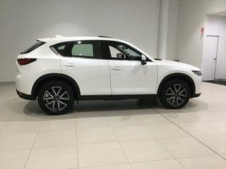 2019 Mazda CX-5 KF4WLA GT SKYACTIV-Drive i-ACTIV AWD Snowflake White 6 Speed Sports Automatic Wagon.