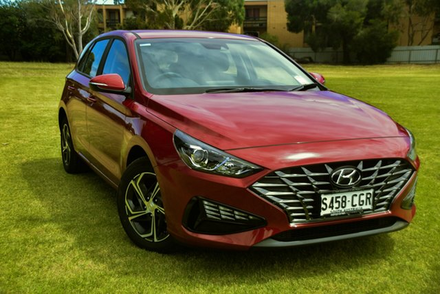 Demo Hyundai i30 PD.V4 MY21 St Marys, 2020 Hyundai i30 PD.V4 MY21 Fiery Red 6 Speed Sports Automatic Hatchback