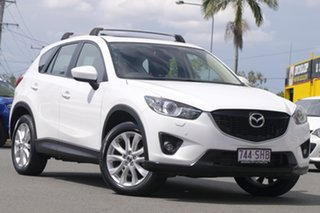 2012 Mazda CX-5 KE1021 Grand Touring SKYACTIV-Drive AWD Snow White Pearl 6 Speed Sports Automatic.