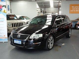 2009 Volkswagen Passat Type 3C MY10 125TDI DSG Black 6 Speed Auto Sportshift Wagon.