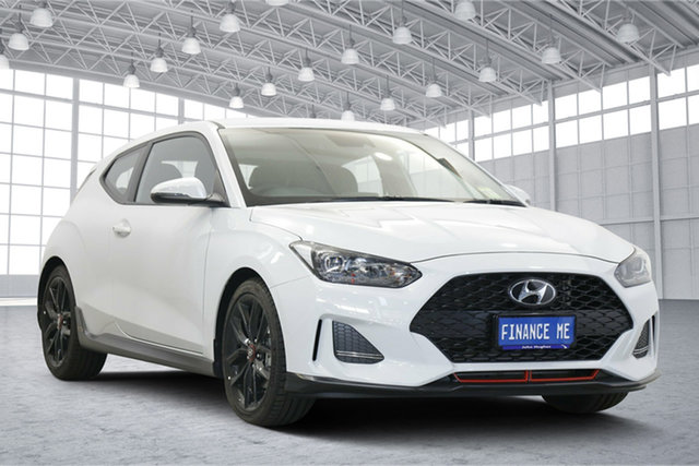 Used Hyundai Veloster JS MY20 Turbo Coupe D-CT Victoria Park, 2019 Hyundai Veloster JS MY20 Turbo Coupe D-CT Chalk White 7 Speed Sports Automatic Dual Clutch