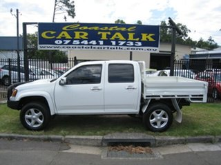 2010 Holden Colorado RC MY10 LX (4x4) White 5 Speed Manual Crew Cab Chassis.