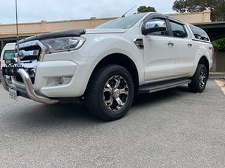 2016 Ford Ranger PX MkII XLT Double Cab White 6 Speed Sports Automatic Utility
