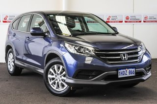 2012 Honda CR-V 30 VTi (4x2) Blue 6 Speed Manual Wagon.