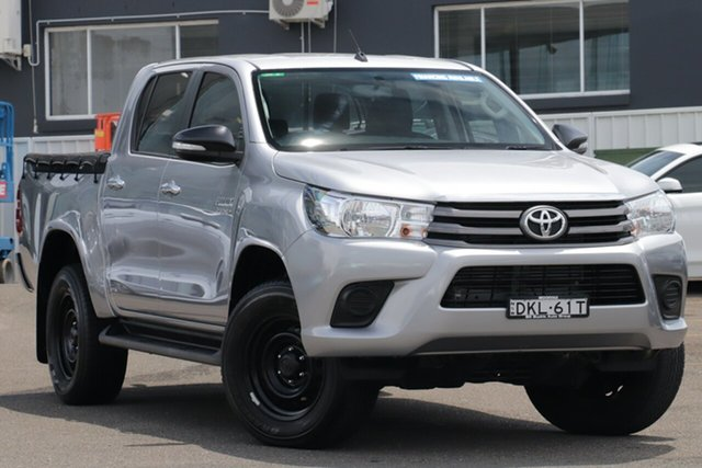 Used Toyota Hilux GUN126R SR Double Cab Brookvale, 2016 Toyota Hilux GUN126R SR Double Cab Silver 6 Speed Sports Automatic Utility