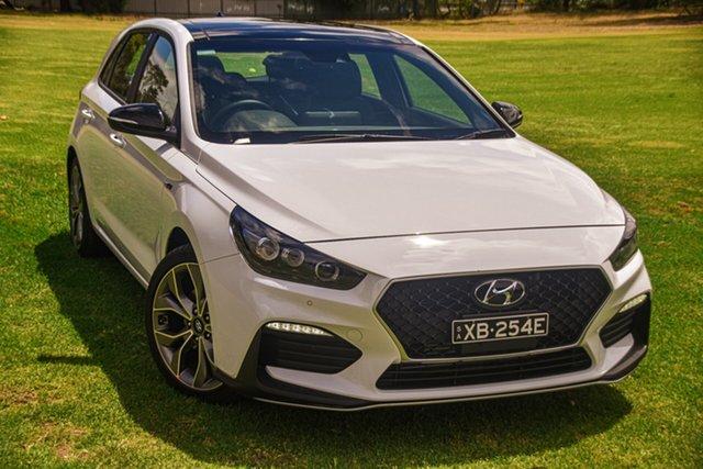 Demo Hyundai i30 PD.V4 MY21 N Line D-CT Premium St Marys, 2020 Hyundai i30 PD.V4 MY21 N Line D-CT Premium Polar White 7 Speed Sports Automatic Dual Clutch