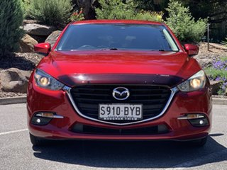 2017 Mazda 3 BN5438 SP25 SKYACTIV-Drive Red/Black 6 Speed Sports Automatic Hatchback.