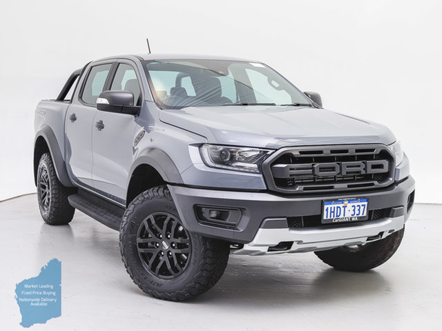 Used Ford Ranger PX MkIII MY19 Raptor 2.0 (4x4), 2018 Ford Ranger PX MkIII MY19 Raptor 2.0 (4x4) Grey 10 Speed Automatic Double Cab Pick Up