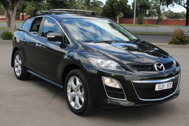Used Mazda CX-7 ER MY10 Luxury Sports (4x4) West Footscray, 2010 Mazda CX-7 ER MY10 Luxury Sports (4x4) Black 6 Speed Auto Activematic Wagon