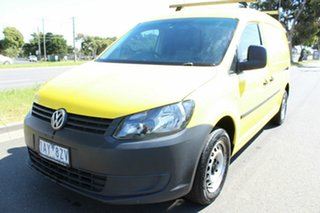 2013 Volkswagen Caddy 2KN MY14 TDI250 BlueMOTION Maxi DSG Yellow 7 Speed.
