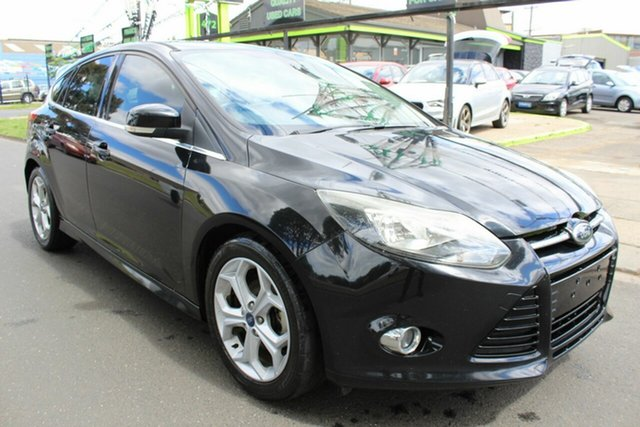 Used Ford Focus LW MkII Sport West Footscray, 2012 Ford Focus LW MkII Sport Black 5 Speed Manual Hatchback