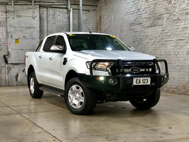 Used Ford Ranger PX MkII XLT Double Cab Mile End South, 2017 Ford Ranger PX MkII XLT Double Cab White 6 Speed Sports Automatic Utility