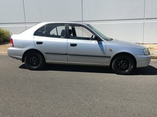 2001 Hyundai Accent LC GL Silver 4 Speed Automatic Hatchback.
