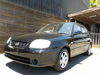 2005 Hyundai Accent LC MY04 GL Black 5 Speed Manual Hatchback.