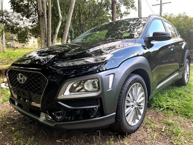 New Hyundai Kona OS.3 MY20 Elite 2WD Mount Gravatt, 2020 Hyundai Kona OS.3 MY20 Elite 2WD Phantom Black 6 Speed Sports Automatic Wagon