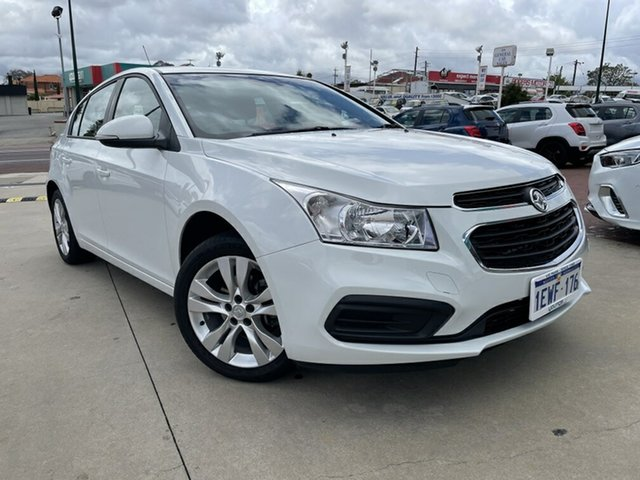 Used Holden Cruze JH MY15 Equipe Victoria Park, 2015 Holden Cruze JH MY15 Equipe White 6 Speed Automatic Sedan