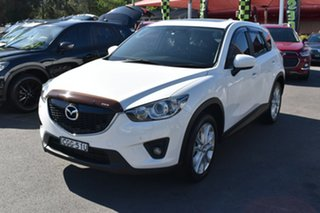 2012 Mazda CX-5 KE1021 Grand Touring SKYACTIV-Drive AWD White 6 Speed Sports Automatic Wagon.