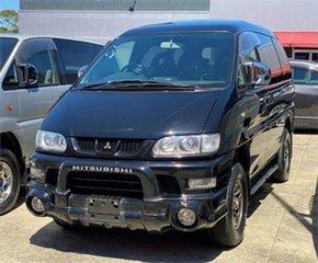 2006 Mitsubishi Delica PD6W Spacegear Chamonix Black Automatic Van Wagon.