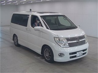 2008 Nissan Elgrand E51 Highway Star White Automatic Wagon.