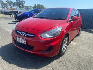 2014 Hyundai Accent RB2 MY15 Active Red 4 Speed Sports Automatic Hatchback