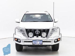2015 Toyota Landcruiser Prado KDJ150R MY14 GXL (4x4) White 5 Speed Sequential Auto Wagon.