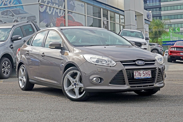 Used Ford Focus LW Titanium PwrShift Springwood, 2012 Ford Focus LW Titanium PwrShift Grey 6 Speed Sports Automatic Dual Clutch Sedan