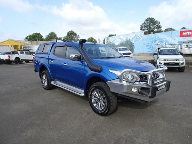 Used Mitsubishi Triton MQ MY17 GLS Double Cab Nowra, 2017 Mitsubishi Triton MQ MY17 GLS Double Cab Impulse Blue 6 Speed Manual Utility