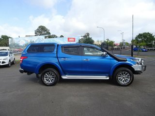 2017 Mitsubishi Triton MQ MY17 GLS Double Cab Impulse Blue 6 Speed Manual Utility