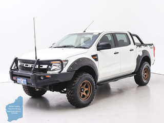 2015 Ford Ranger PX XL 3.2 (4x4) White 6 Speed Manual Dual Cab Chassis.