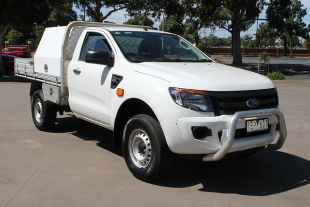 Used Ford Ranger PX XL 2.2 (4x2) West Footscray, 2014 Ford Ranger PX XL 2.2 (4x2) White 6 Speed Manual Utility