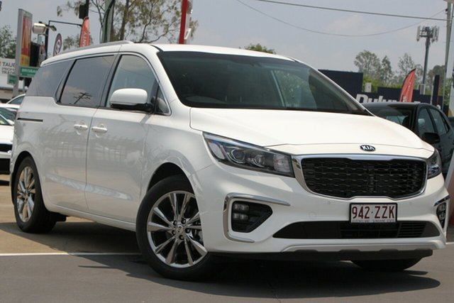 Demo Kia Carnival YP MY19 Platinum Bundamba, 2019 Kia Carnival YP MY19 Platinum Clear White 8 Speed Sports Automatic Wagon