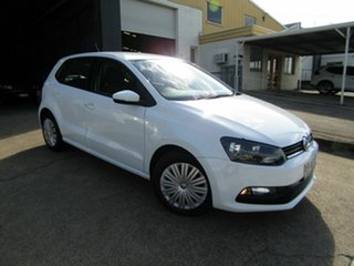 2015 Volkswagen Polo 6R MY16 66TSI DSG Trendline White 7 Speed Sports Automatic Dual Clutch.