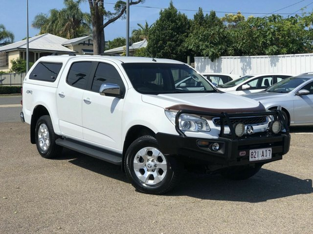 Used Holden Colorado RG MY16 LTZ Crew Cab Chermside, 2016 Holden Colorado RG MY16 LTZ Crew Cab White 6 Speed Manual Utility
