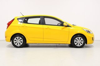 2017 Hyundai Accent RB4 MY17 Active Yellow 6 Speed CVT Auto Sequential Hatchback