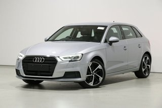 2019 Audi A3 8V MY19 35 TFSI (1.4 TFSI Cod) Silver 7 Speed Auto S-Tronic Sportback.