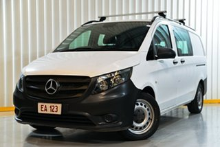 2017 Mercedes-Benz Vito 447 119 BlueTEC MWB Crew Cab White 7 Speed Automatic Van.
