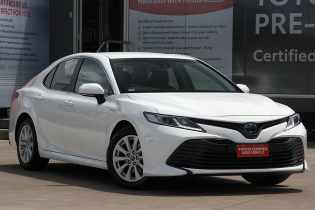 Pre-Owned Toyota Camry AXVH71R Hybrid Guildford, 2019 Toyota Camry AXVH71R Hybrid Glacier White 6 Speed Constant Variable Sedan